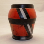 red-white-and-black-vase
